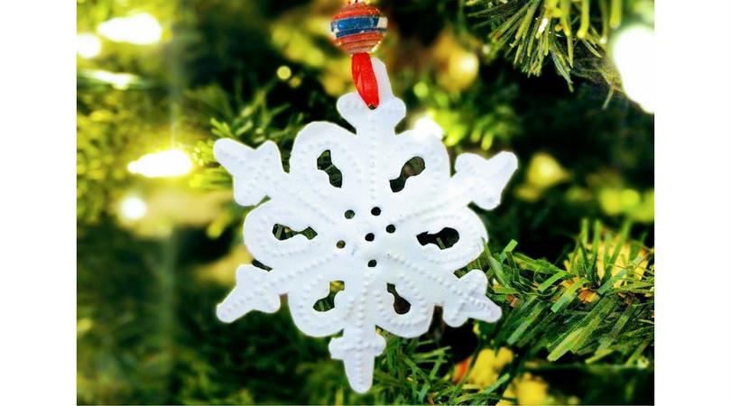 heart of haiti snowflake ornament