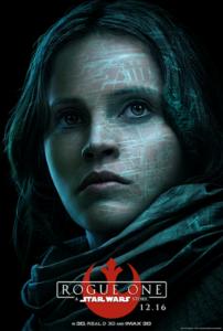 Felicity Jones as Jyn Erso in Rogue One a Star Wars story
